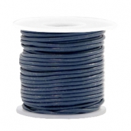 DQ leer rond 1 mm Navy blue