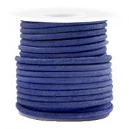 DQ leer rond 3 mm Antique blue