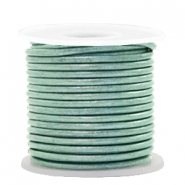 DQ leer rond 2 mm Pastel lark green metallic