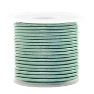 DQ leer rond 1 mm Pastel lark green metallic