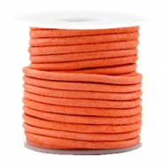 DQ leer rond 3 mm Antique orange