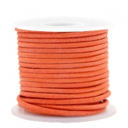 DQ leer rond 2 mm Antique orange