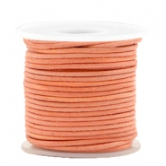 DQ leer rond 1 mm Antique orange