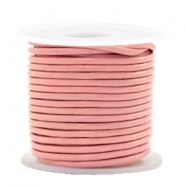 DQ leer rond 2 mm Blossom pink metallic