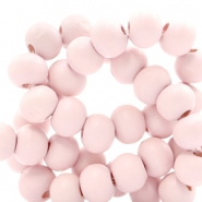 Houten kralen rond 8 mm Light pink