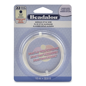 Beadalon German style wire 22Gauge round Silver