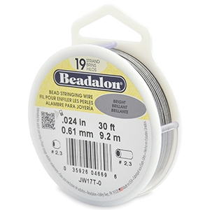 Beadalon Rijgdraad 19 draads 0.61mm Bright Stainless Steel