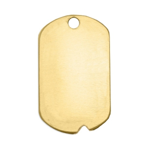 ImpressArt stamp labels naamplaatje inkeping 32x19mm Brass Licht goud