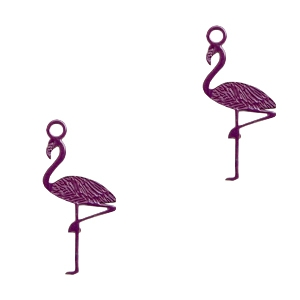 Hangers bohemian flamingo Dark purple
