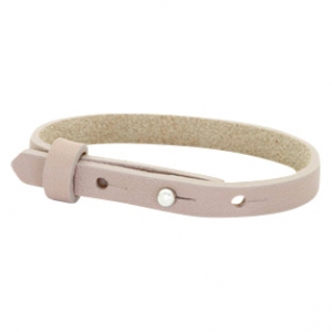 Cuoio armbanden leer 8 mm voor 12 mm cabochon Rose taupe
