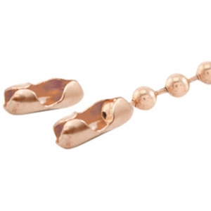 Basic Quality metaal eindkapje/slotje voor ball chain 1.5mm Rosegold