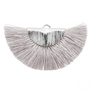 Kwastjes hanger Silver-light grey