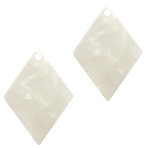 Resin hangers ruit 20x14mm Off white