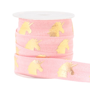 Elastisch lint unicorn Light pink
