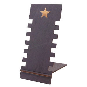 Sieraad display hout star Black