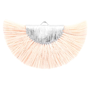 Kwastjes hanger Silver-light peach