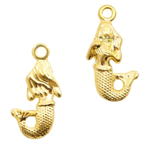Basic Quality metalen bedels mermaid Goud