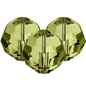 Swarovski Elements facet kralen 8mm Khaki green