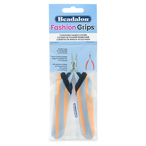 Beadalon fashion grips tangen covers tiger Oranje-grijs