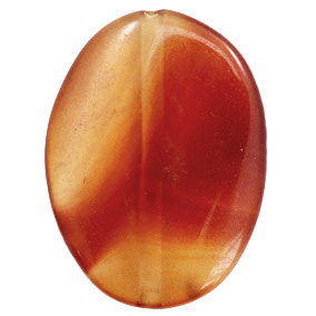 Half edelsteen kralen agaat ovaal Topaz brown-red opal