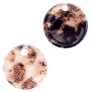 Resin hangers rond 12mm snake shiny Rust brown