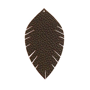 Imi leer hangers leaf small Dark chocolate brown