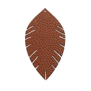 Imi leer hangers leaf small Chocolate brown