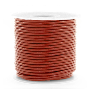 DQ Leer rond 1 mm Red ochre brown