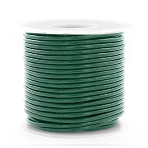 DQ Leer rond 1 mm Hunter green metallic
