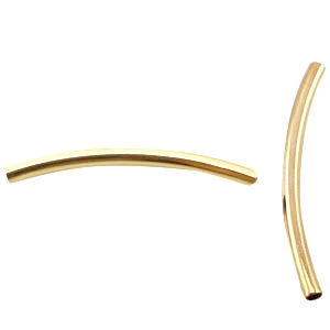 DQ metaal tube 2.5 x 35 mm Gold plated