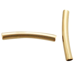 DQ metaal tube 4x30mm Gold plated