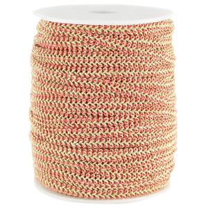 Fashion wire plat 5mm Rouge red-goud