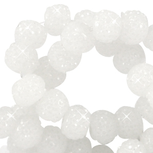 Sparkling beads 6mm Wit