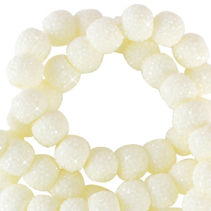 Sparkling beads 6mm Pastel yellow