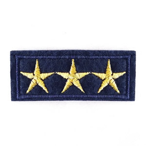 Patches army stars Blauw-goud