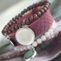 Trendy armbandjes + ketting van Polaris Elements mandala cabochon!