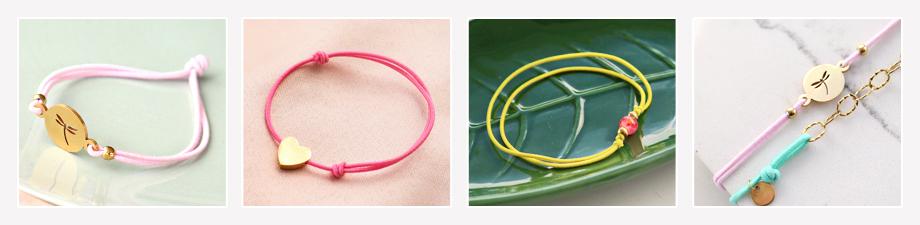 Gekleurd elastisch draad